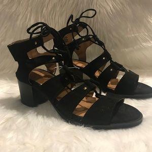 Forever 21 Black Gladiator Heel Sandals - NWT